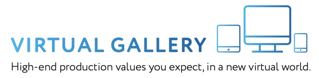 White logo for Virtual Gallery
