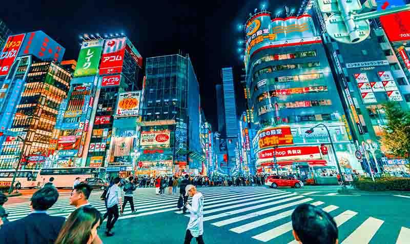 LED panles in Tokyo
